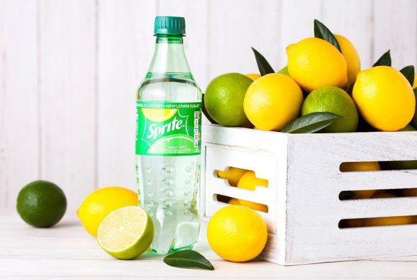 Clear sprite bottle
